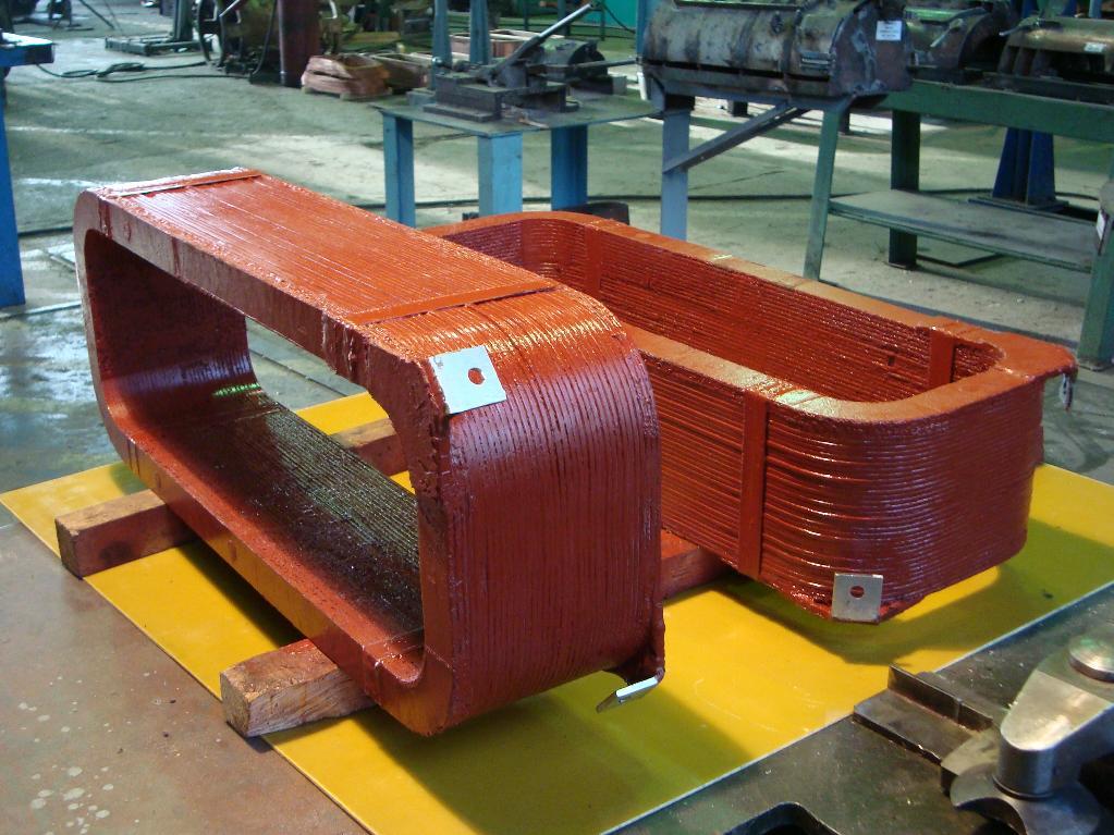 Катушки полюса для гидрогенератора СВ-1090
